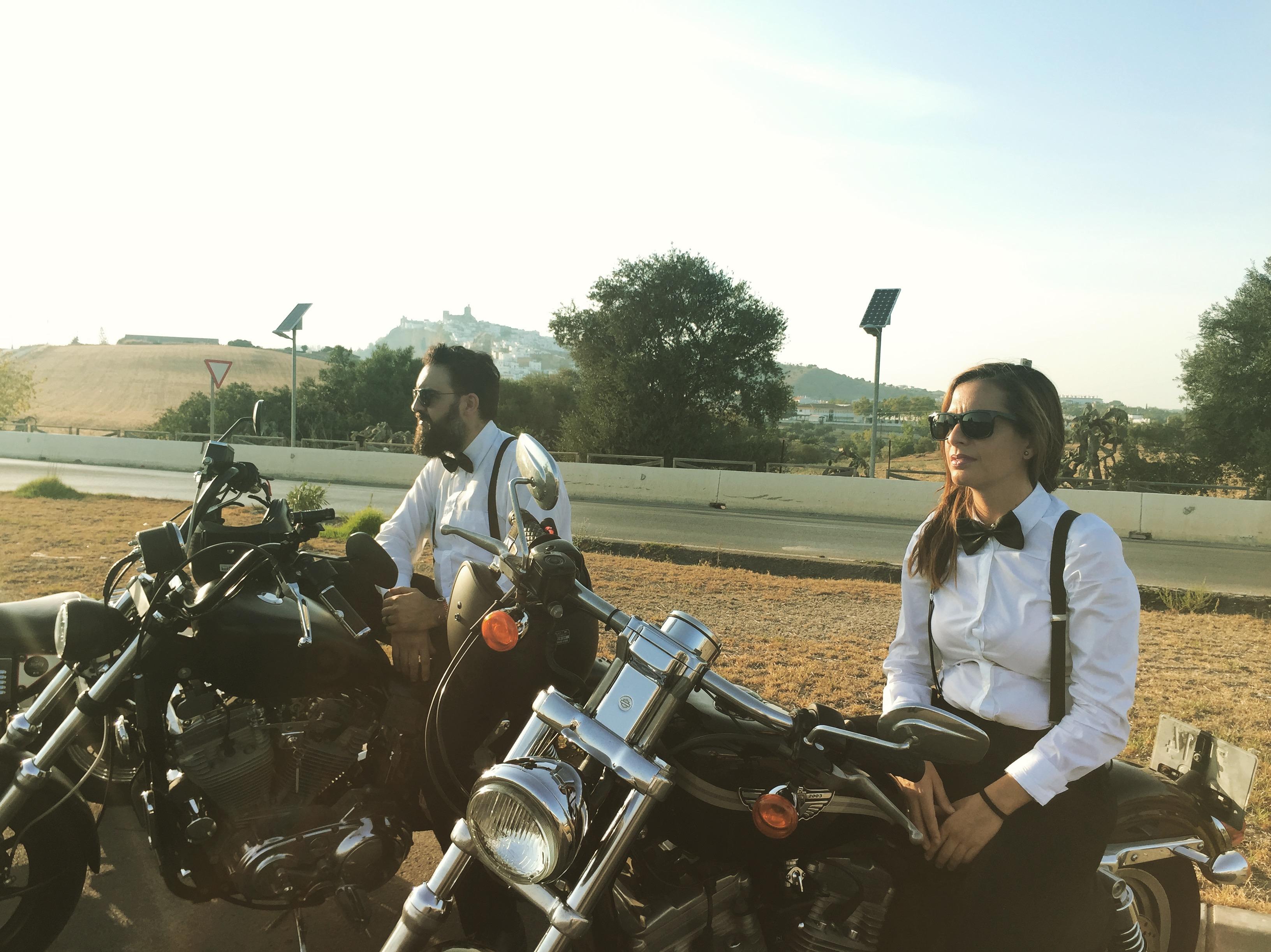 Harleys para acompañamiento a bodas