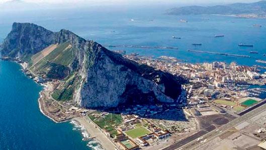 Vistas del peñón de Gibraltar